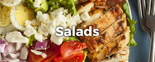 Chicken Salad with the word Salads written on top of it