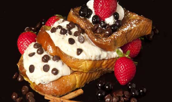 Cannoli Toast with Strawberries