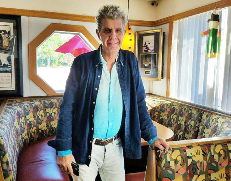 Patrons such as Anthony Bourdain @ Flashback Diner